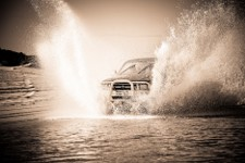 Toyota hilux - through mud sand water