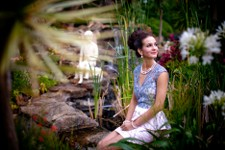 Fashion shoot at Romancing the Stone Gardens with Catwalk Bridal